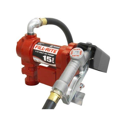 (Tuthill Fill Rite Fr610g Fuel Transfer Pump 115v Ac 15 Gpm 1/4 Hp W/ Man. Nozzle)
