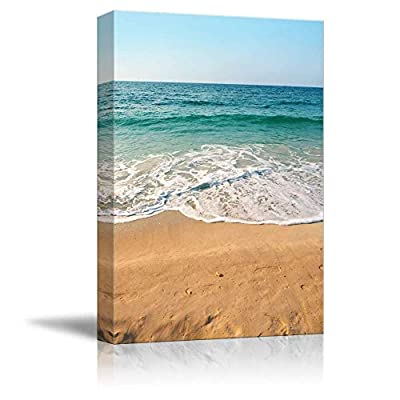 Quality Creation, Handsome Piece, Sand Beach Blue Ocean Painting Artwork for Home Framed