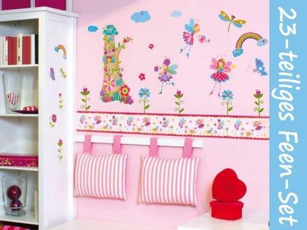 Wandtattoo Fee Welt 23x Wandaufkleber Mega Set Kinder Wand