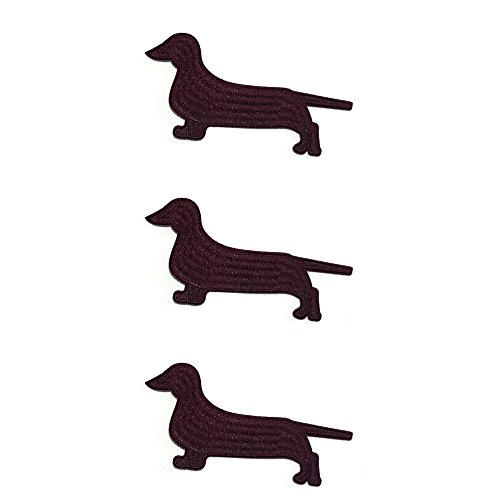 Application Classic Dog Breeds Dachshund Cosplay Badge Embroidered Iron or Sewn-On Applique Patch 3-Pack Gift Set]()