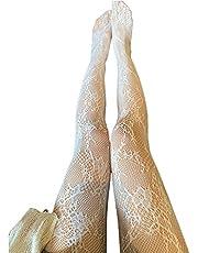MYBOON Kvinnor urholkade nät nätstrumpbyxor söt spets blommig Lolita strumpbyxor, strumpor