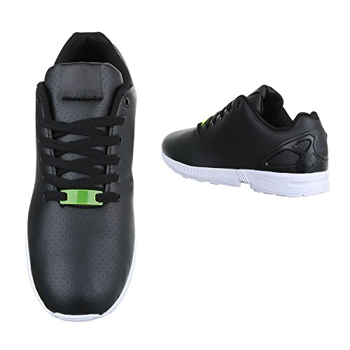 Ital-Design - Zapatillas de Material Sintético para hombre Schwarz 559D