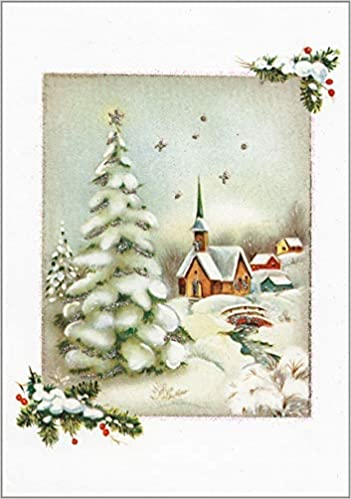 Vintage Winter Church Small Boxed Holiday Cards Christmas Cards Holiday Cards Greeting Cards Inc Peter Pauper Press 9781441304841 Amazon Com Books