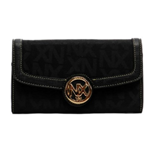 gnature Checkbook Clutch Wallet (J025-Black) (Signature Checkbook Clutch)