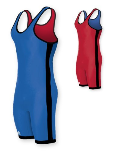 adidas Wrestling Reversible Singlet - Red/Royal - (High Cut Wrestling Singlet)