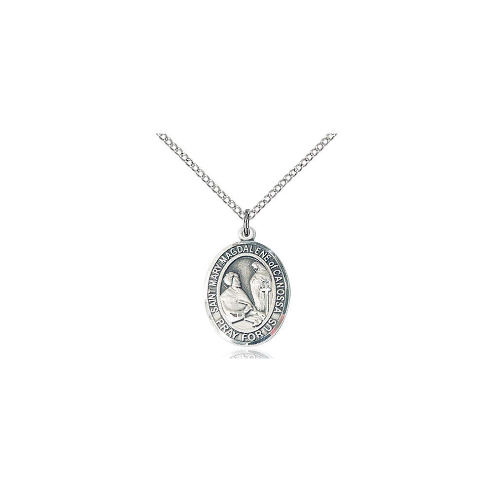 Mary Magdalene of Canossa Pendant DiamondJewelryNY Sterling Silver St
