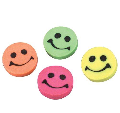 1.25'' SMILE ERASER, Case of 2304 by DollarItemDirect