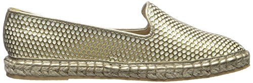 Cole Haan Women's Rielle Espadrille Ballet Flat, Black Patent Perf, 7.5 UK Gold Patent Perforated/Jute