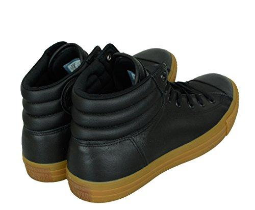 Converse Hommes Tout Étoiles Salut Salut Chaussures De Sport En Cuir Baskets Noir Noir