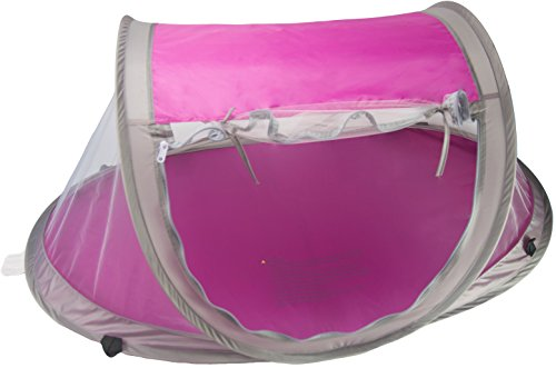 Baby Travel Bed, Travel Tent, Portable Folding Baby Bed, Mosquito Net Portable Baby Cots, Newborn Foldable Crib (Hot Pink) with UV Protection & Anchor Straps by Cobei Homegoods by Cobei Homegoods (Image #1)