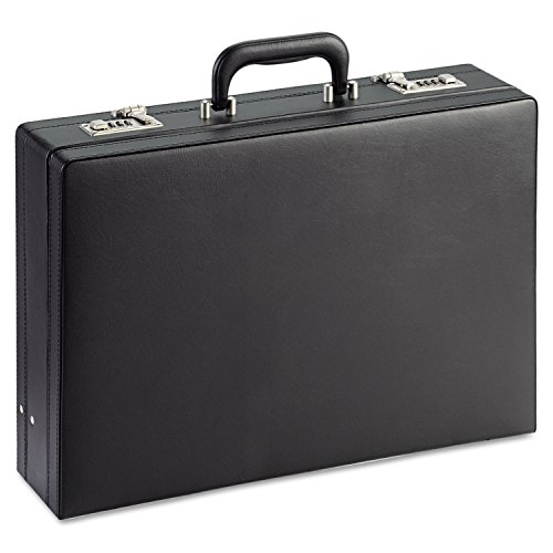 SOLO Premium Leather-like Attaché, Hard-sided with Combination Locks (Hard Sided Notebook Case)
