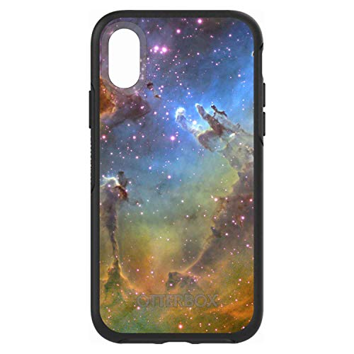 "New DistinctInk Case for iPhone XR (6.1"" Screen) - Custom Black OtterBox Symmetry - Eagle Nebula Orange Blue - Show Your Love of Astronomy orange iphone xr case 5"