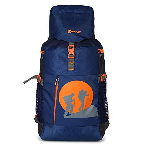 Impulse Waterproof Travelling Trekking Hiking Camping Bag Backpack Series 55 litres Blue JMD Rucksack