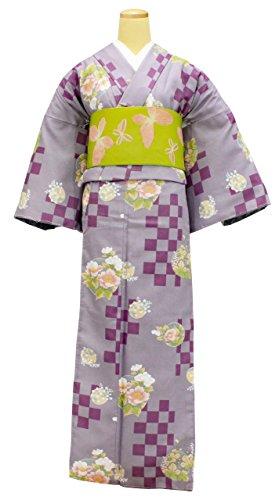 達成南西検出する洗える着物 半幅帯 2点セット レディース Mサイズ 薄紫色 N2515