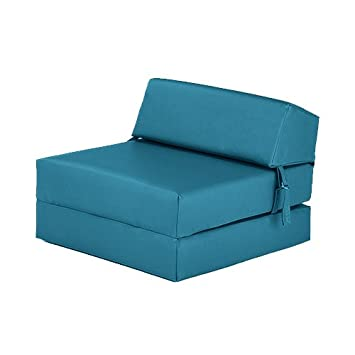 Terrific Black Friday Deal 2017 Turquoise Faux Leather Single Chair Bed Folding Mattress Foam Filled Machost Co Dining Chair Design Ideas Machostcouk