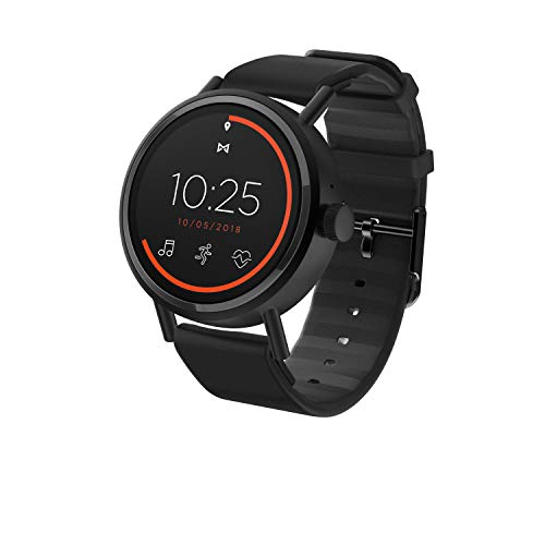 Misfit Vapor 2 Stainless Steel and Silicone Touchscreen Smartwatch Color: Black (MIS7100)