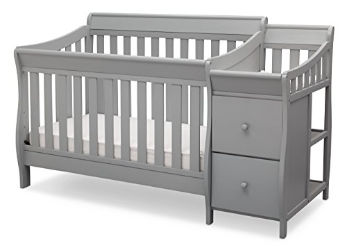 Delta Children Bentley S Convertible Crib N Changer, Grey ()