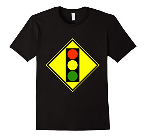 Mens Traffic Light Ahead Sign Simple Halloween Costume T-Shirt 2XL (Road Sign Halloween Costumes)