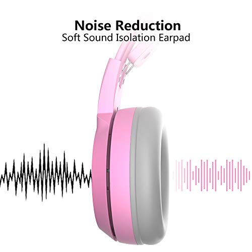 56ed9613ea3 SOMIC G951s Pink Stereo Gaming Headset with Mic for PS4, Xbox One, PC,  Mobile Phone, 3.5MM Sound Detachable Cat Ear Headphones Lightweight  Self-Adjusting ...