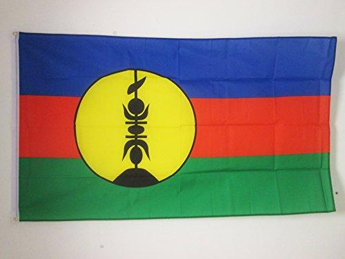 AZ FLAG New Caledonia Flag 3' x 5' - New Caledonian Flags 90 x 150 cm - Banner 3x5 ft - New Caledonia Flag