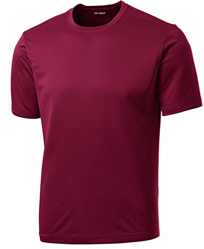 Dri-Equip(tm) Youth Athletic All Sport Training Tee Shirt,XL-Cardinal