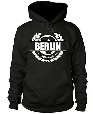 shirtloge Fan Kapuzenpullover 3XL Gr/ö/ße S Fussball Lorbeerkranz Berlin