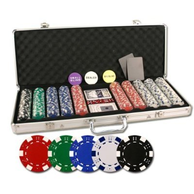 Striped Clay Poker Chips - 8