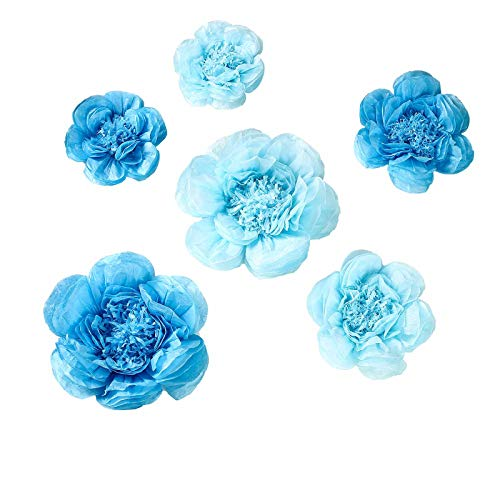 Peony Discount Code (BalsaCircle 6 pcs 7 9 11-Inch Periwinkle and Turquoise Paper Peony Flowers - Wall Backdrop Party Wedding Decorations Supplies)