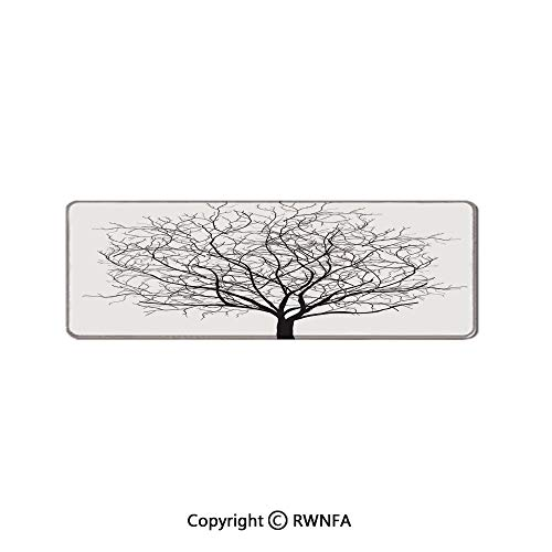 an Old Withered Oak Crown Without Leaves Tree Branches Illustration Waterproof Keyboard pad,(11.8