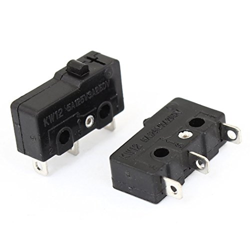 Micro Switch - TOOGOO(R) Noir Bouton-poussoir Limite d'actionneur Micro Switch 2 Pieces