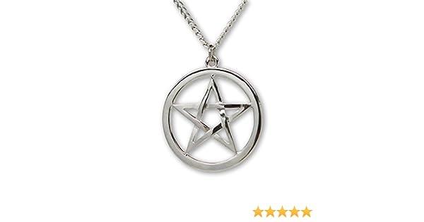 Gothic Pagan Inverted Pentacle Pentagram Wiccan Medieval Renaissance Pendant Necklace