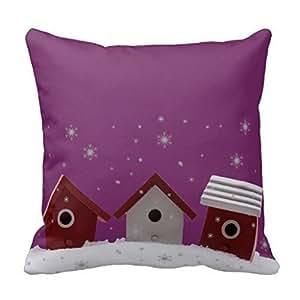 Houses Throw Pillow Case Shell Decorative Pillowcase 18 X 18