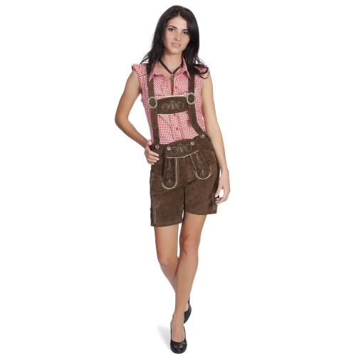 Gaudi-leathers Women's Traditional Shorts Embroidery