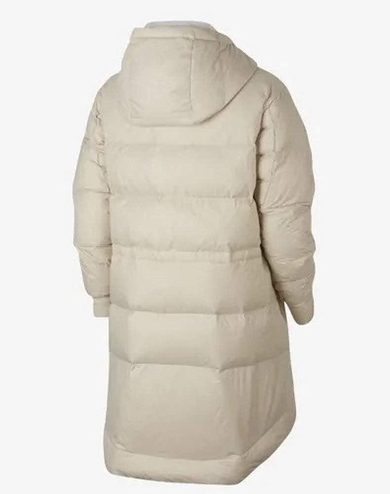 be298eedbb5b Amazon.com  NIKE Women s Sportswear Reversible Down Fill Jacket  Phantom Igloo Black Size M (8-10)  Clothing