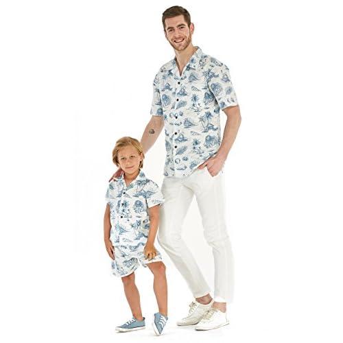 Hawaii Hangover fils père correspondant un homme blanc chemise garçon chemise hommes outfit Luau + taille XL garçon 8