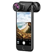 olloclip — VISTA LENS SET for iPhone 8/8 Plus & iPhone 7/7 Plus — TELEPHOTO & SUPER-WIDE Premium Glass Lenses
