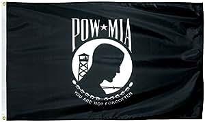 4'x6' POW-MIA Pow Mia bandera 4x 6pies casa bandera ojales doble costura resistente a la decoloración Premium calidad