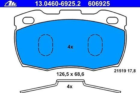 Bremsbelagsatz Scheibenbremse TRW GDB395