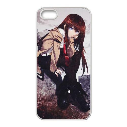 Steins Gate coque iPhone 4 4s cellulaire cas coque de téléphone cas blanche couverture de téléphone portable EEECBCAAN01668