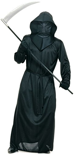 Mesh Face Robe - Rubie's Costume Black Mesh Face Robe and Sickle