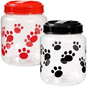 Doggie paws container for snacks or for Plastic fish bowls dollar tree