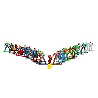 "Jada Toys DC Comics 1.65"" Die-cast Metal Collectible Figures 20-Pack Wave 1, Toys for Kids and Adults, Multi-Color (84409)"