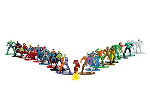 Jada Nano Metalfigs DC 20 Pack Miniature Diecast Figures, Multi-Color