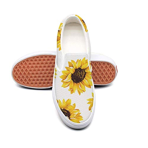 Cute Sunflower Non Slip Shoes for Women Sneakers (Slip-On)