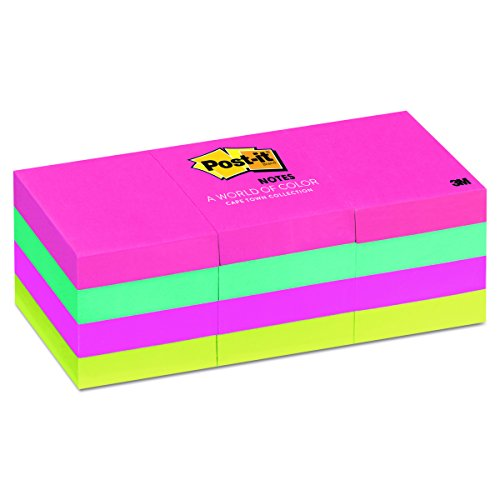 Post It Notes 653An Original Pads In Cape Town Colors  1 1 2 X 2  100 Sheet  Pack Of 12