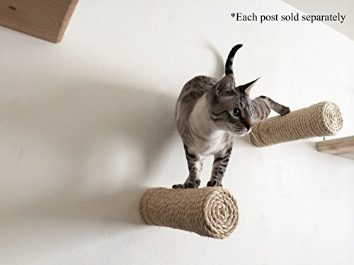 CatastrophiCreations  Floating Sisal for Cat Post Step Handcrafted Natural Cat Shelf