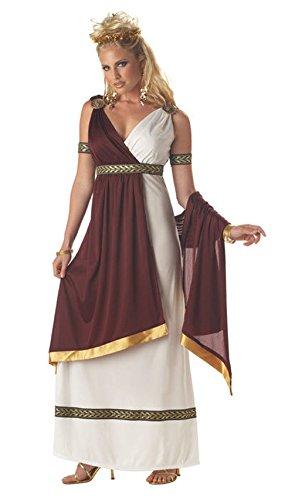 Mememall Fashion Roman Empress Caesar Goddess Adult Halloween Costume (Roman Empress Plus Size Costume)