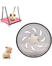 JUILE YUAN Hamster Wheel with Swing, Pet Hamster Toys Silent Exercise Running Wheel for Hamster Entertainment Stay Healthy, 5.12 Inches in Diameter Hamster Cage Accessories