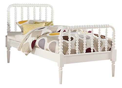 65ca92c555be InRoom Furniture Designs White Finish Wood Jenny Lind Full Size Bed ...