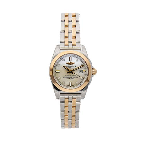 - Breitling Galactic Quartz (Battery) Mother of Pearl Dial Womens Watch C7234812/A792 (Certified Pre-Owned)